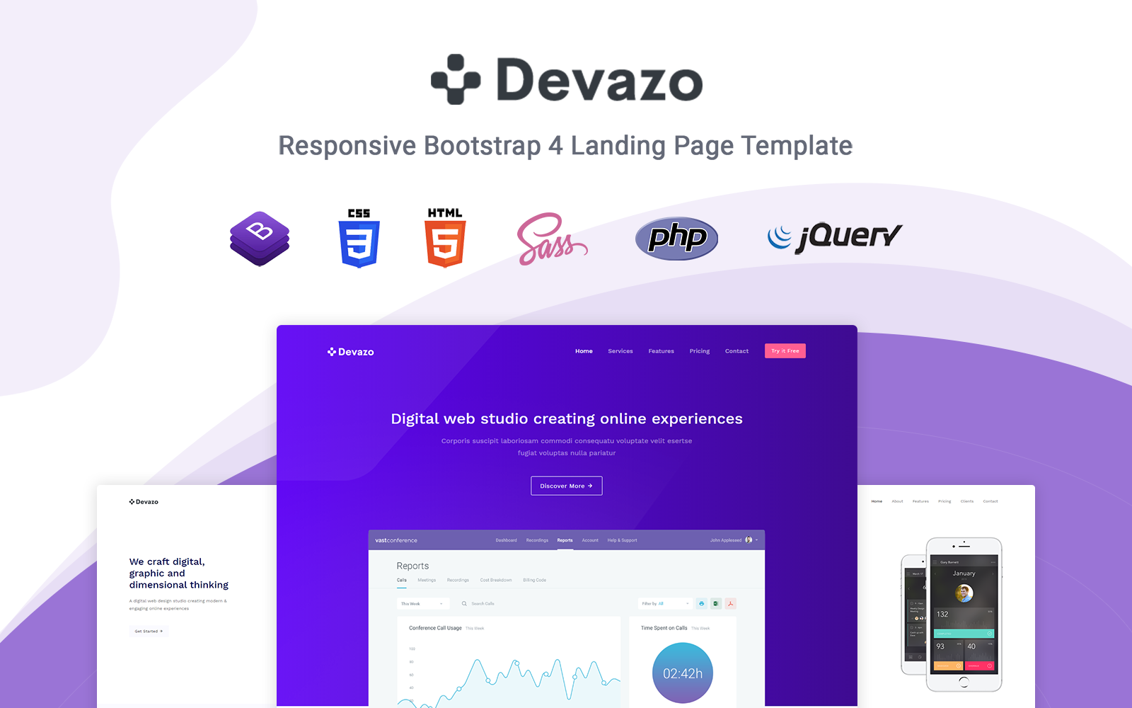 Devazo - Responsive Landing Page Template