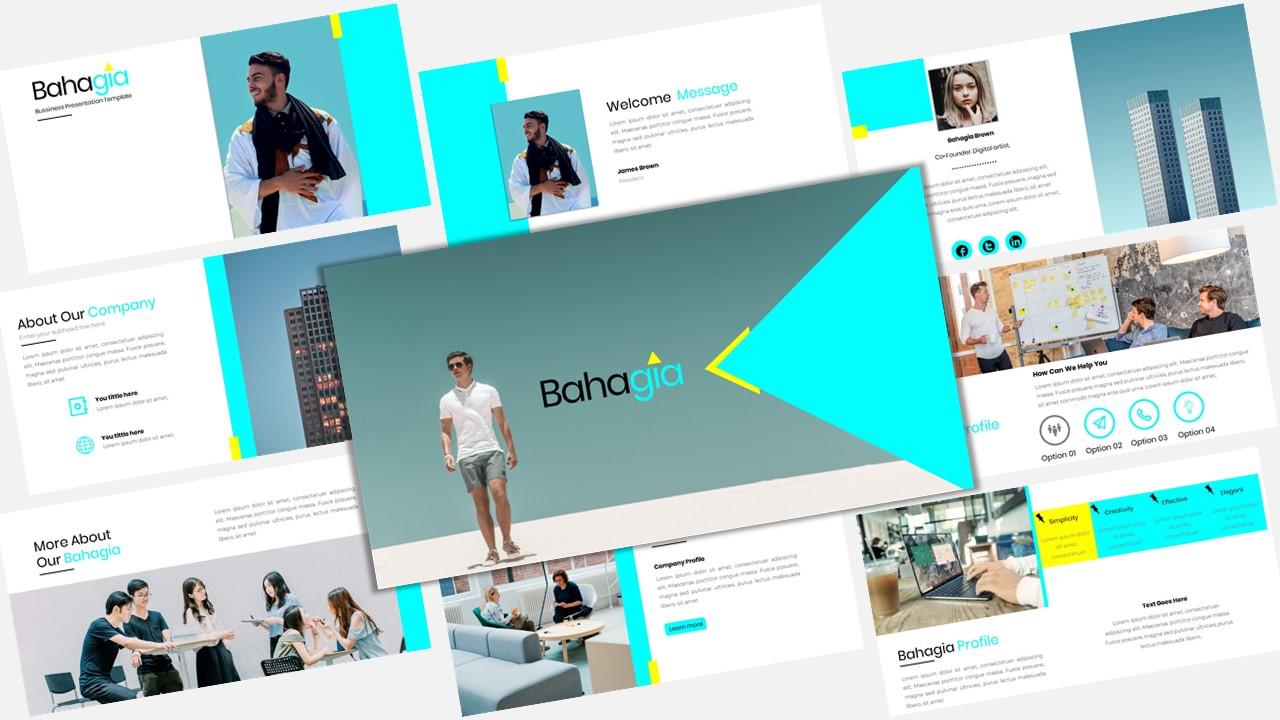 """""""Bahagia - Creative Business"""" modèle PowerPoint Premium #123917"""