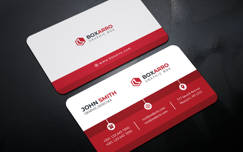Business Card-Box Arro Márkastílus sablon 123982
