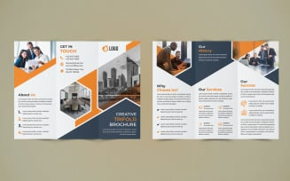 Business Trifold Brochure Design - Corporate Identity Template