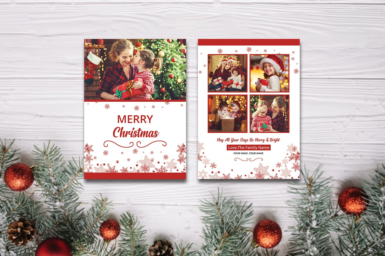 Christmas Photo Greeting Card Corporate Identity Template