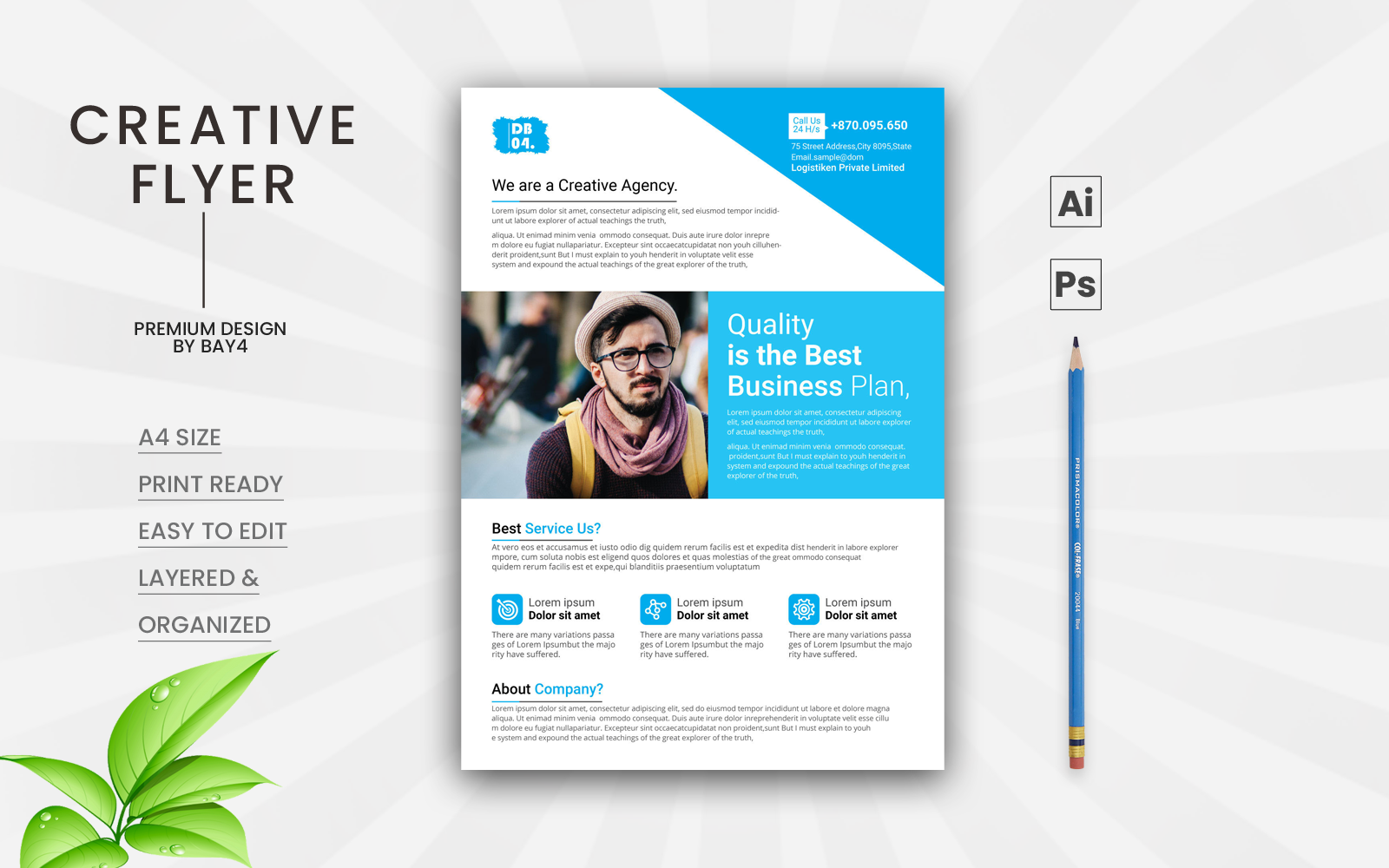 """Clean Business Flyer"" design d'Entreprise  #123969"