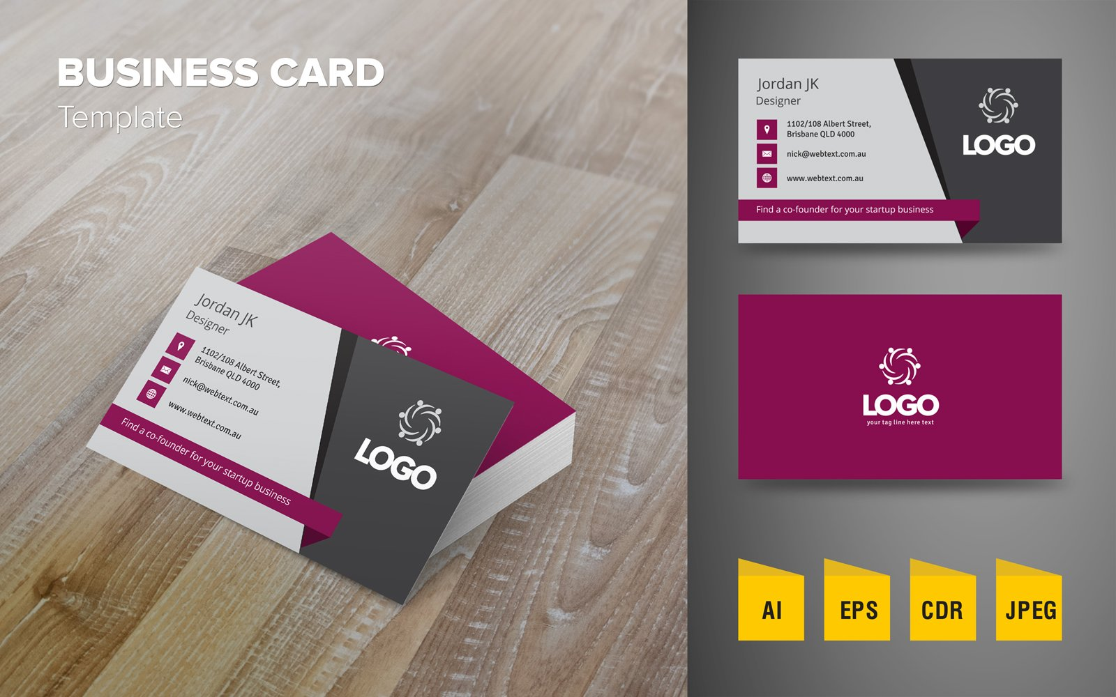 Creative Business Card Design №123976