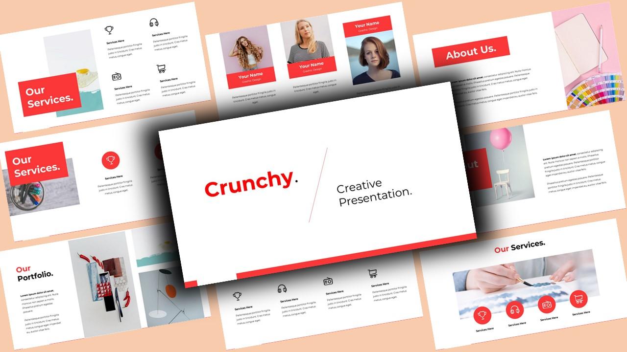 """""""Crunchy Creative"""" - PowerPoint шаблон №123919"""