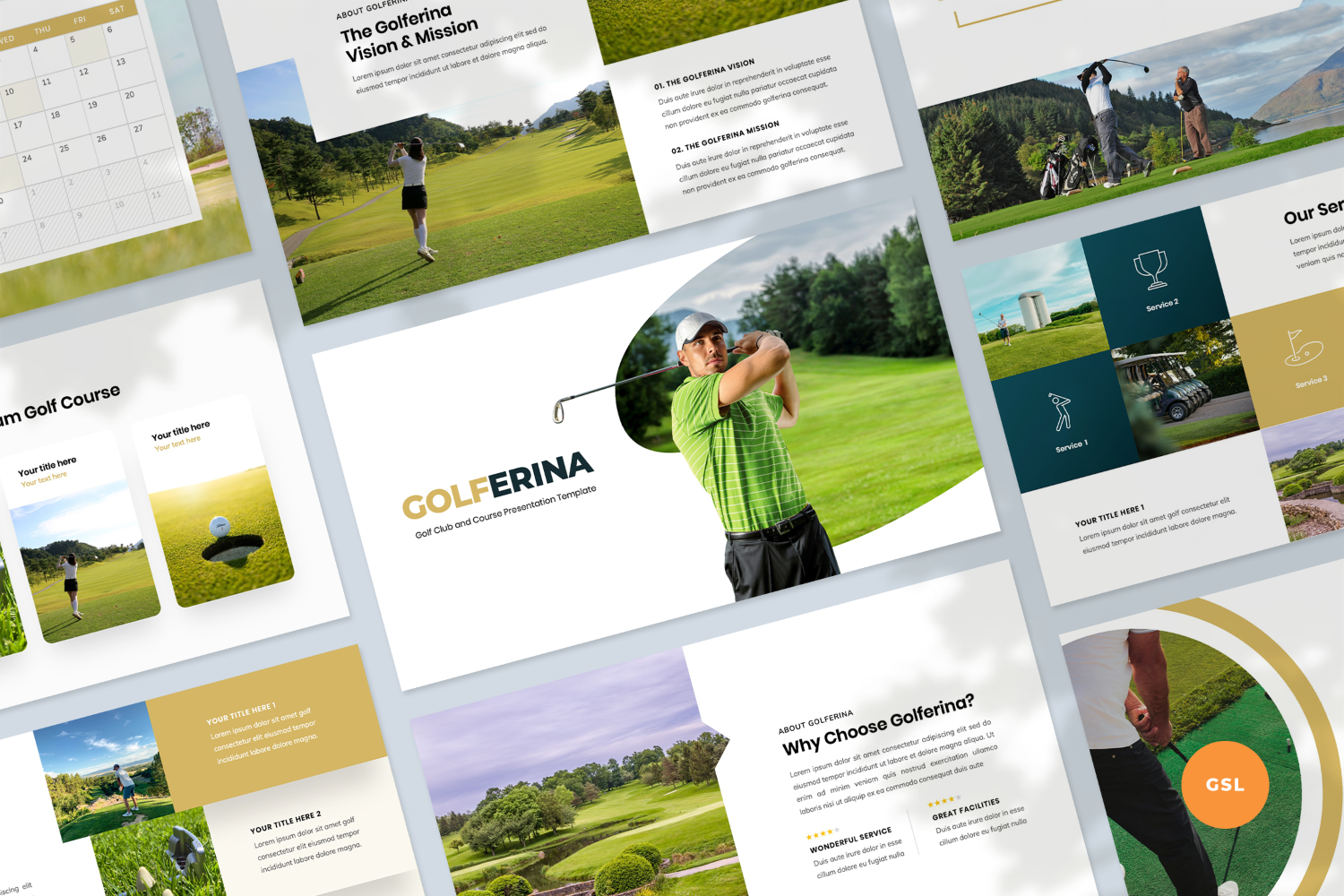 Golf Club Presentation Template Google Slides 123925