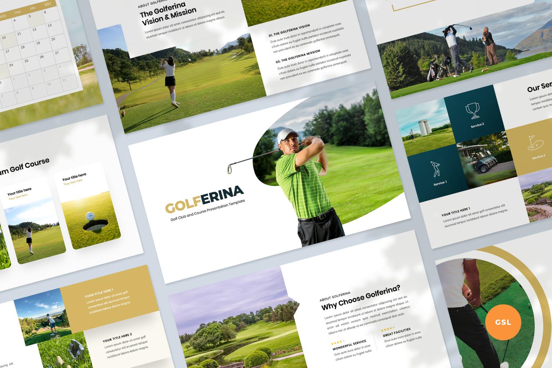 """Golf Club Presentation Template"" - Google Slides №123925"