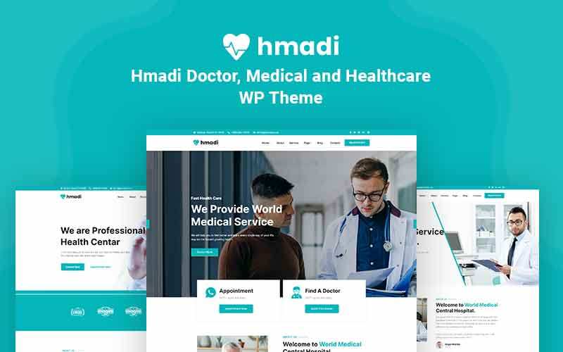 """Hmadi - Doctor, Medical And Healthcare"" 响应式WordPress模板 #123959"
