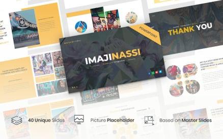 Imajinassi – Creative Business PowerPoint template PowerPoint Template
