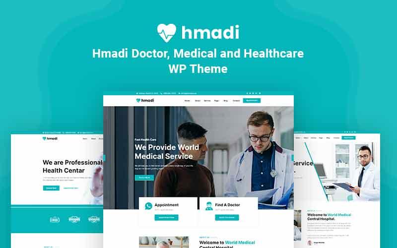 "Modello WordPress Responsive #123959 ""Hmadi - Doctor, Medical And Healthcare"""