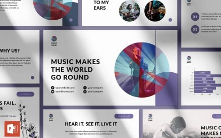 Music Band Presentation PowerPoint Template