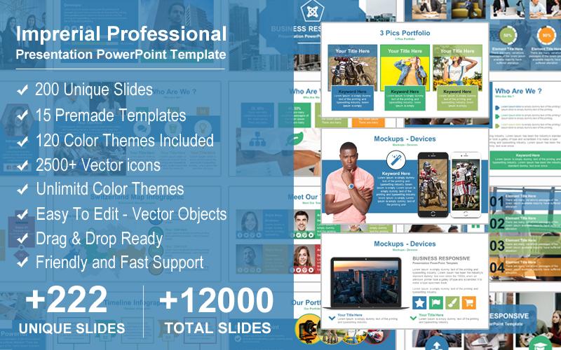 Prémium Imprerial Professional Presentation PowerPoint sablon 123922