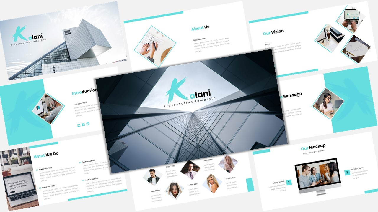 Prémium Kalani - Creative Business PowerPoint sablon 123915