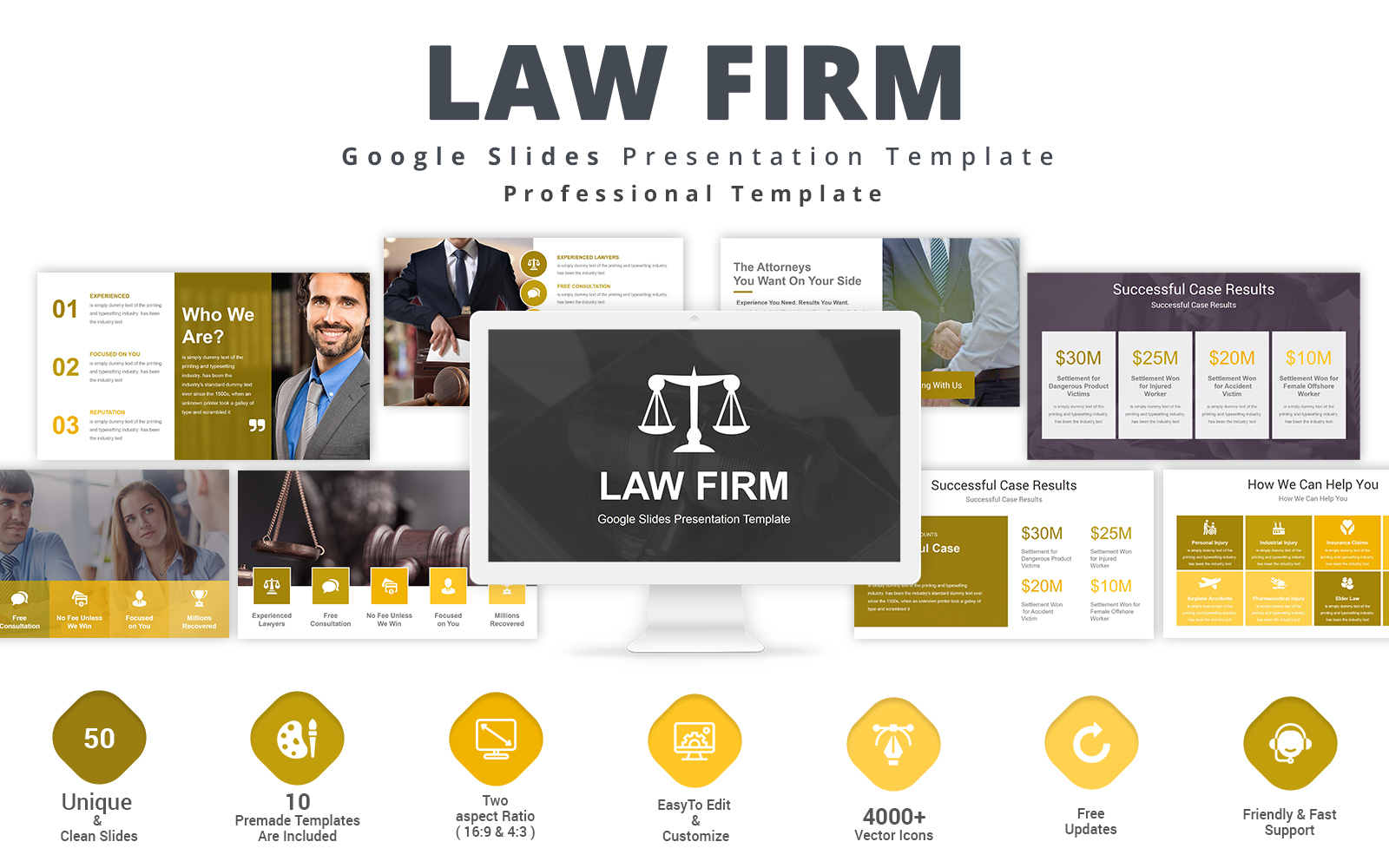 Prémium Law Firm Google Slides 123929