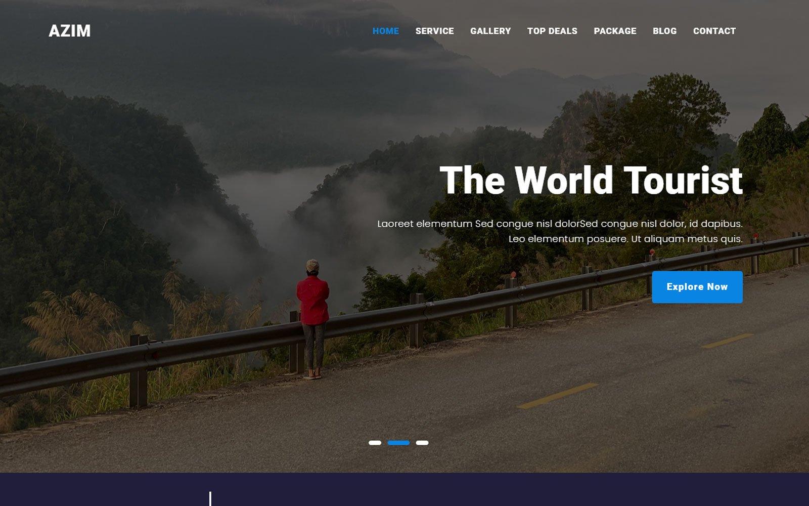 Responsive Al-Azim - Tour & Travel Agency Açılış Sayfası #123952