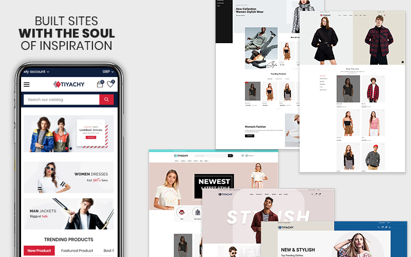 """Tiyachy -  The Fashion Responsive Multipurpose Premium"" Responsive Shopify Thema №123955"