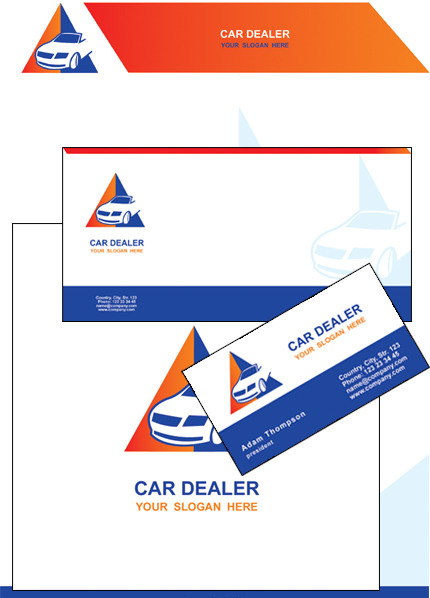 Car Dealer Corporate Identity Template Vector Corporate Identity preview