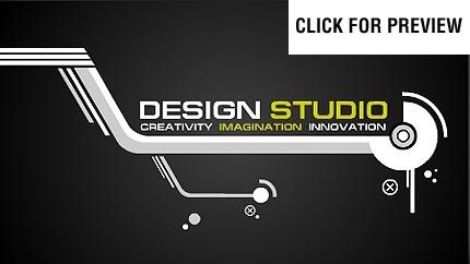 Flash Intro Vorlage für Designstudio  FLASH INTRO SCREENSHOT