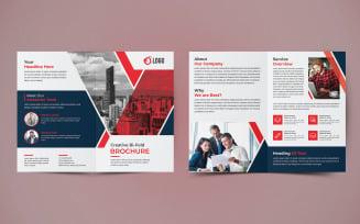 Business Bifold Brochure Design - Corporate Identity Template