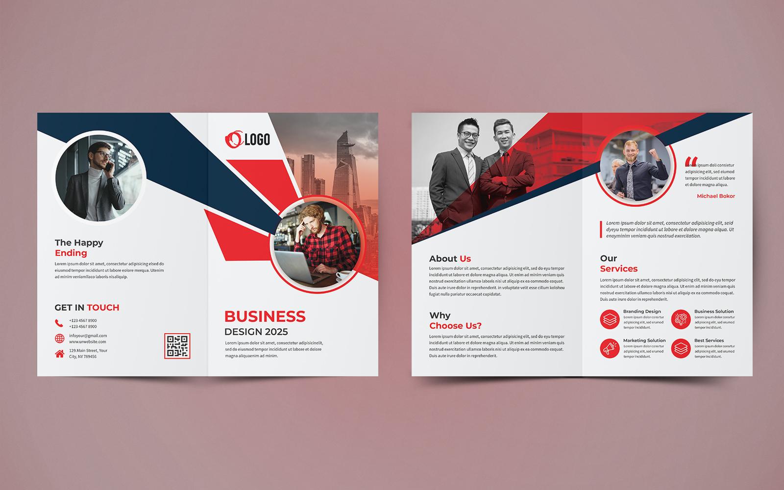 """""""Business Bifold Brochure Design"""" 企业设计模板 #124062"""