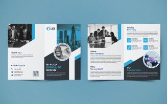 Free Business Bifold Brochure Design - Corporate Identity Template