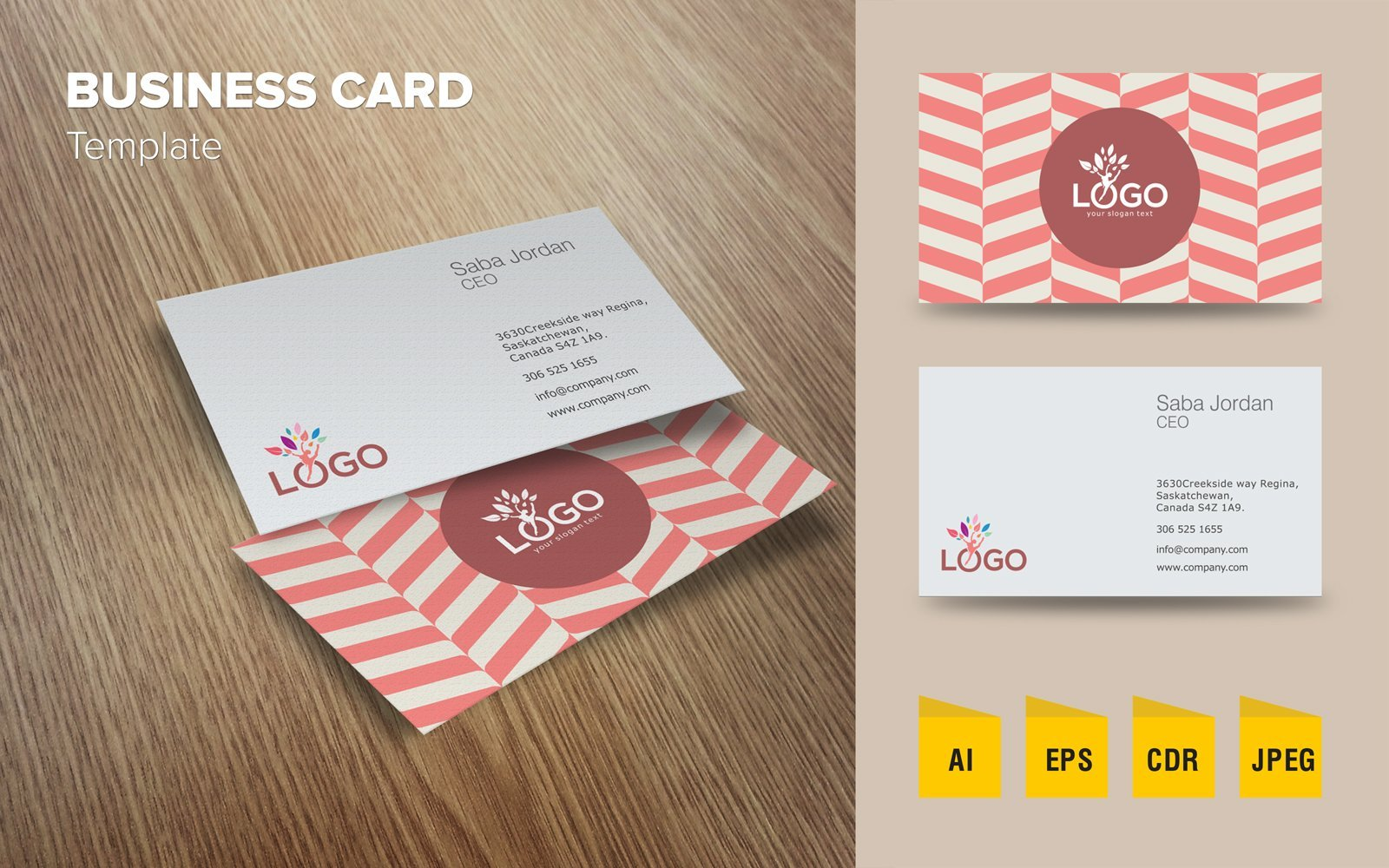 "Modello di Loghi #124082 ""Modern Business Card"""