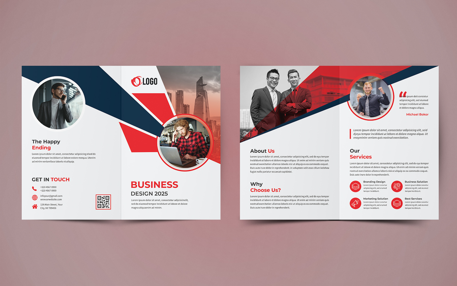 """Šablona firemního stylu """"Business Bifold Brochure Design"""" #124062"""