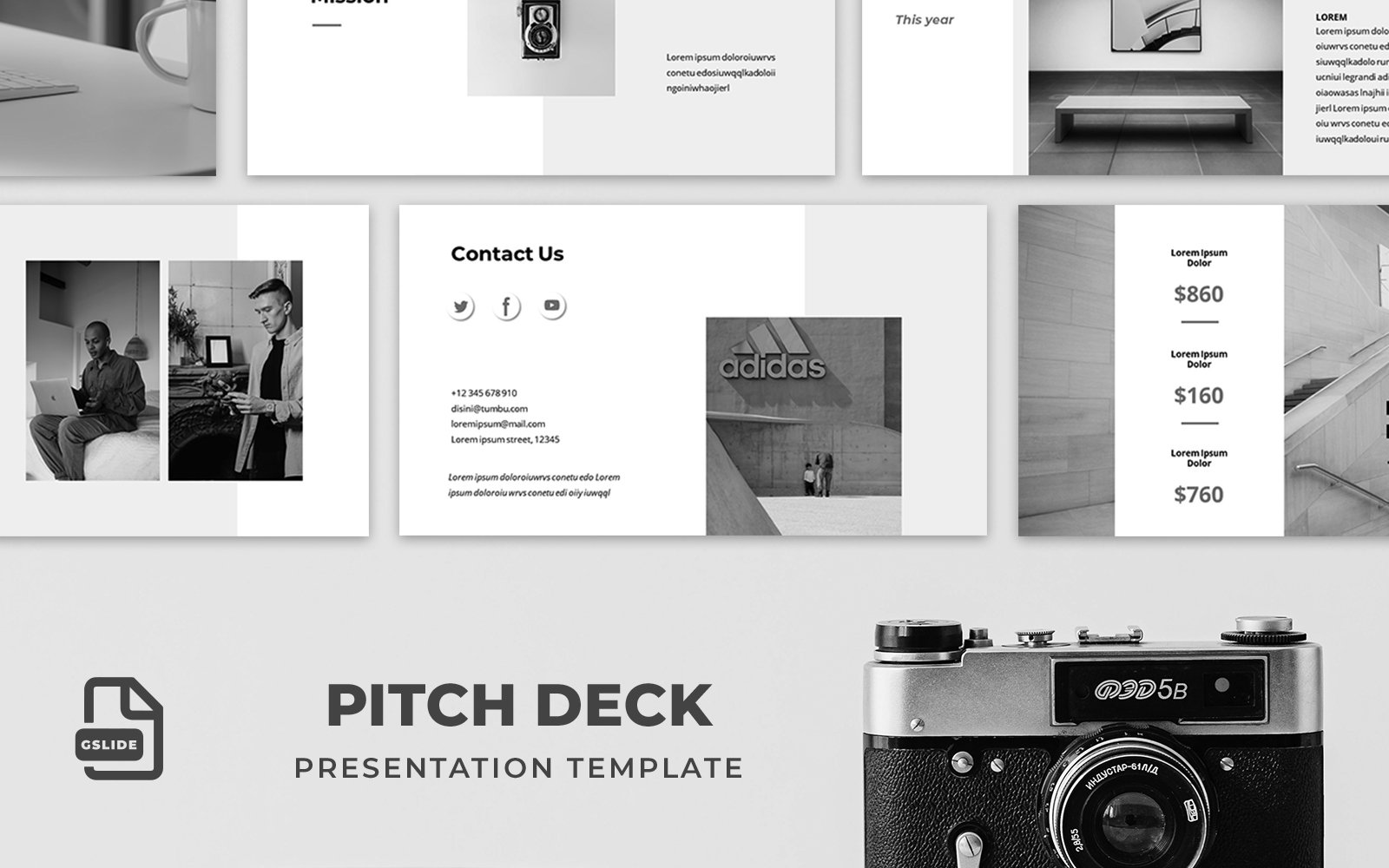 Pitch Deck - Presentation Template Google Slides 124195