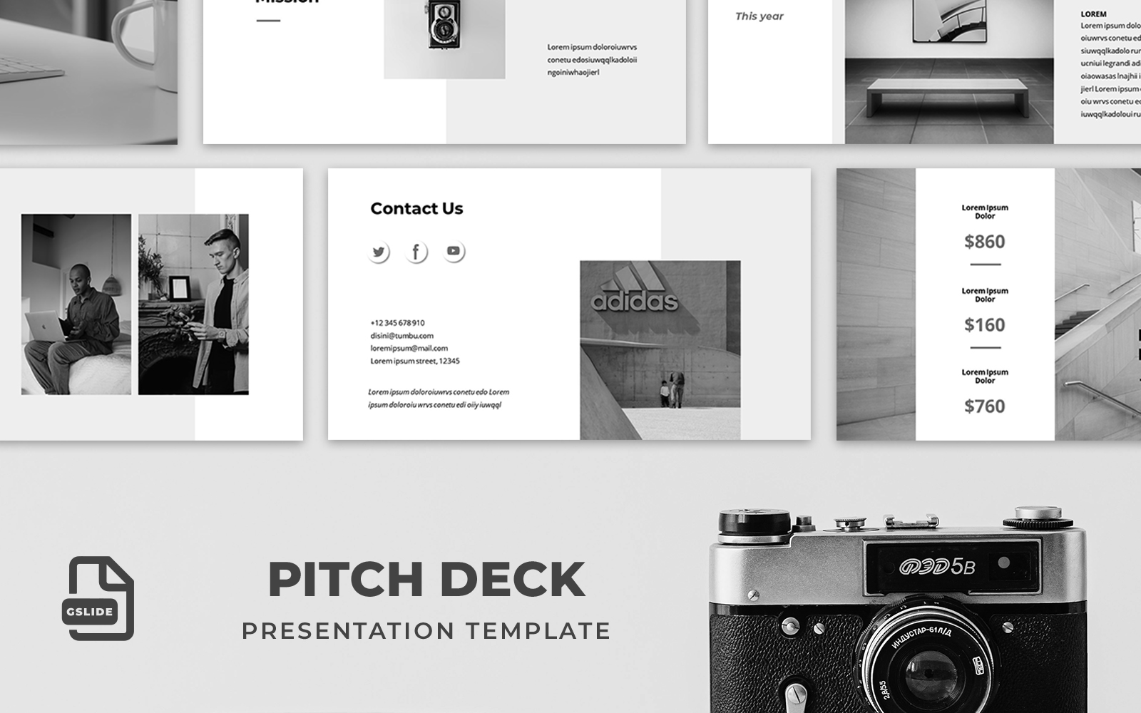 """Pitch Deck - Presentation Template"" - Google Slides №124195"