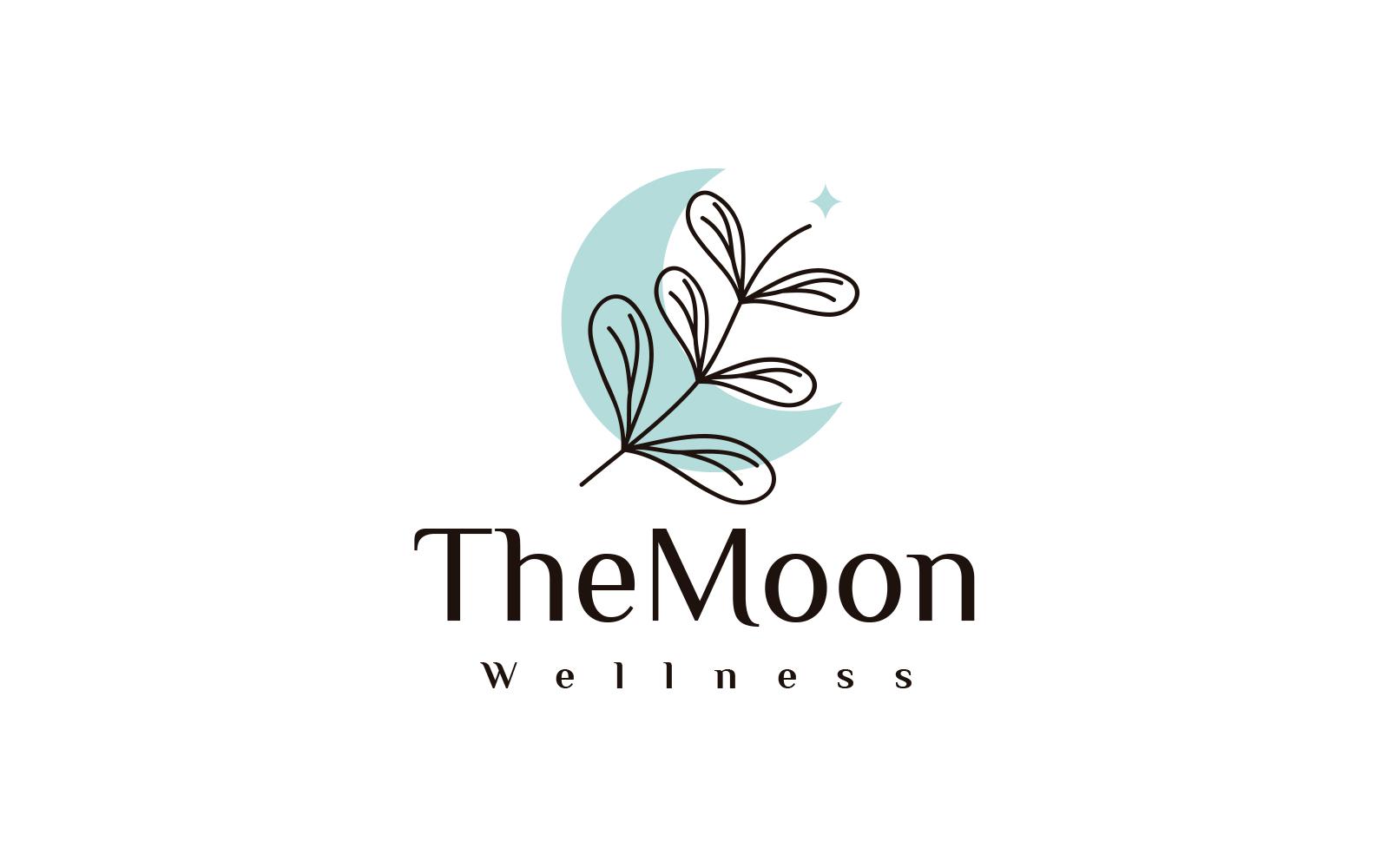 "Plantilla De Logotipo ""Flowers and Moon Beauty"" #124103"