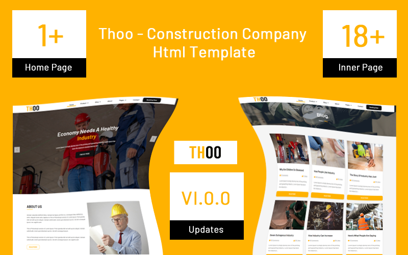 Thoo - Construction Company Website Template