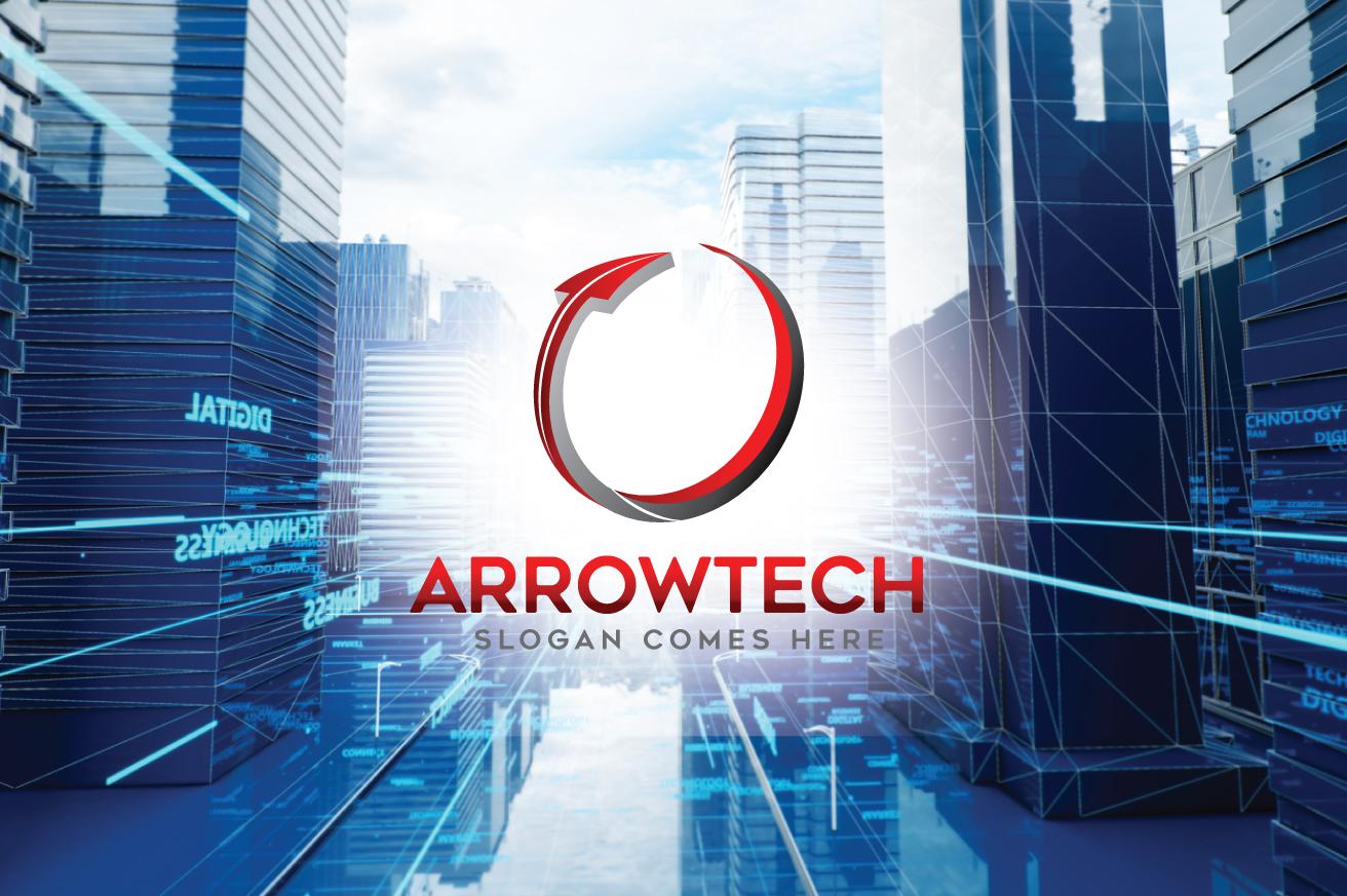 """Arrowtech"" logo标志模板 #124267"