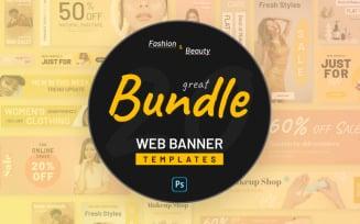 Fashion And Beauty PSD Web Banners PSD Template