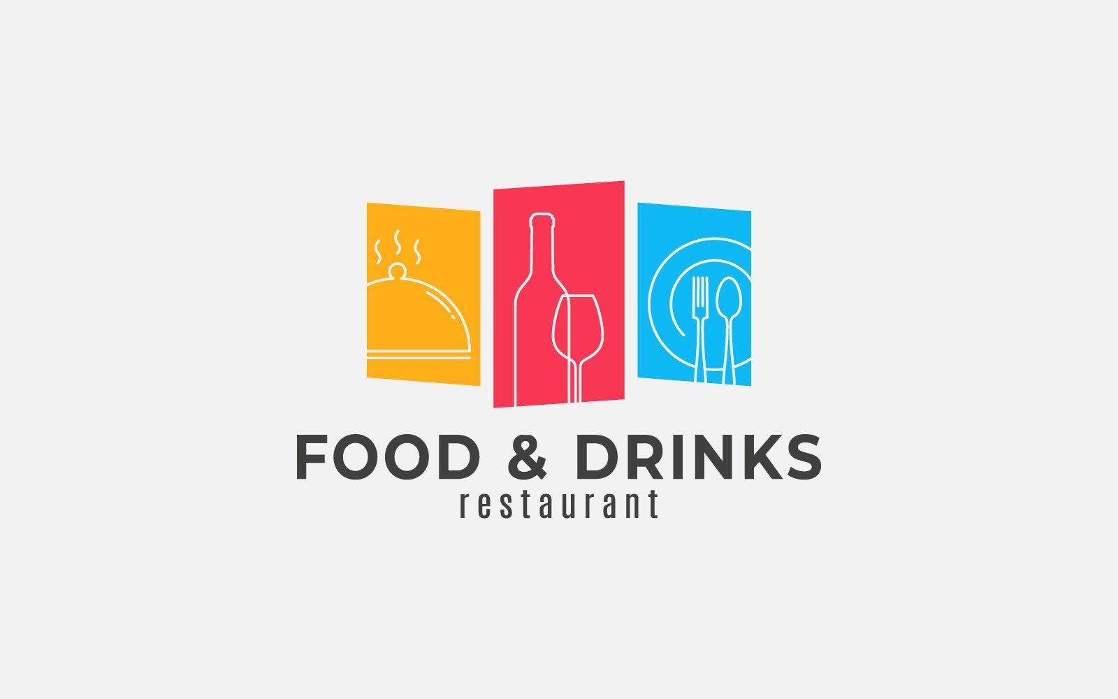 Food and Drinks Unika logotyp mall #124225