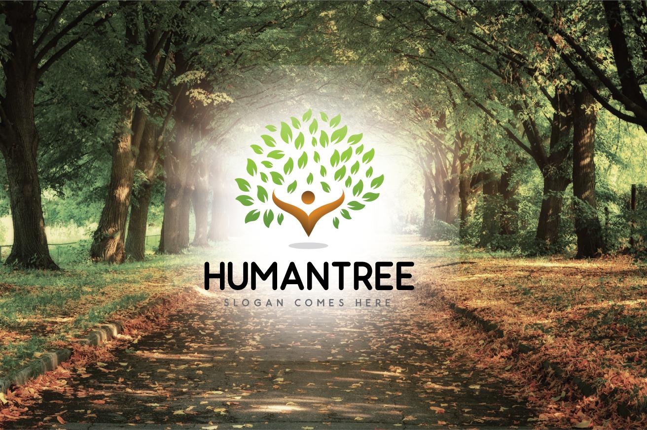 Humantree Unika logotyp mall #124279