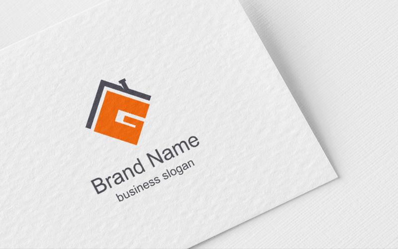 Letter G Realesate Design Unika logotyp mall #124252