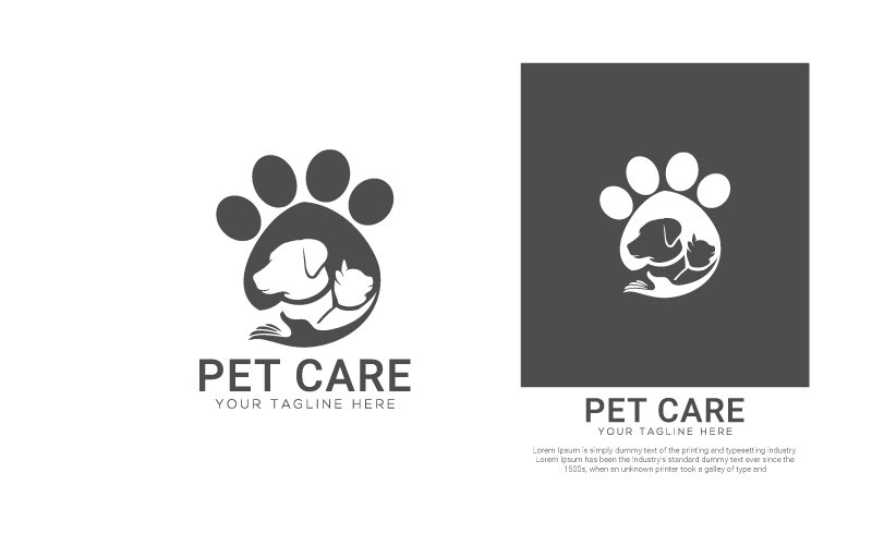 Pet Care Template de Logotipo №124226