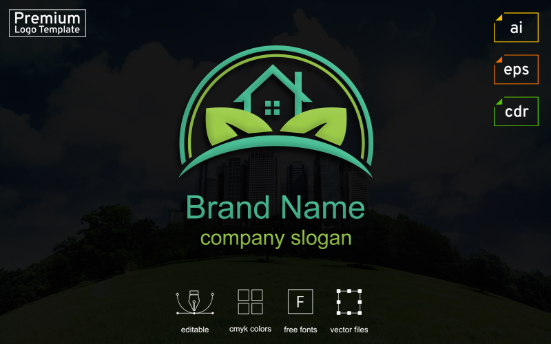 """Real Estate Business"" - Шаблон логотипу №124292"