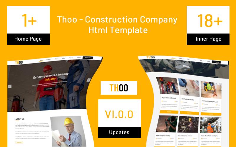 "Template Siti Web Responsive #124207 ""Thoo - Construction Company"""