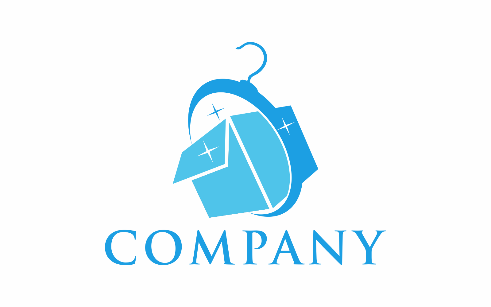Box Loundry Logo Template