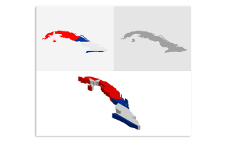 3D and Flat Cuba Map