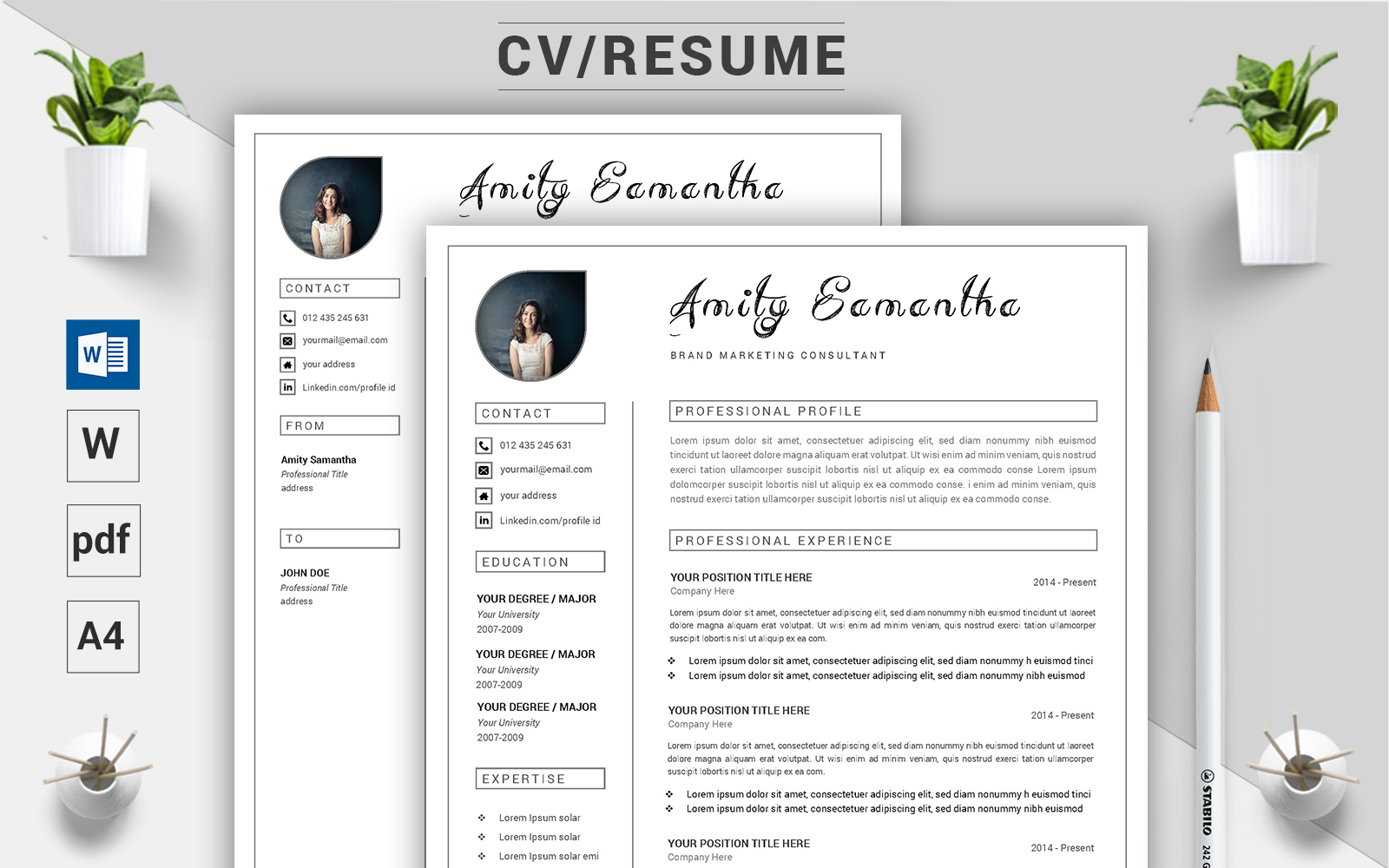 Amity Samantha - CV Resume Template