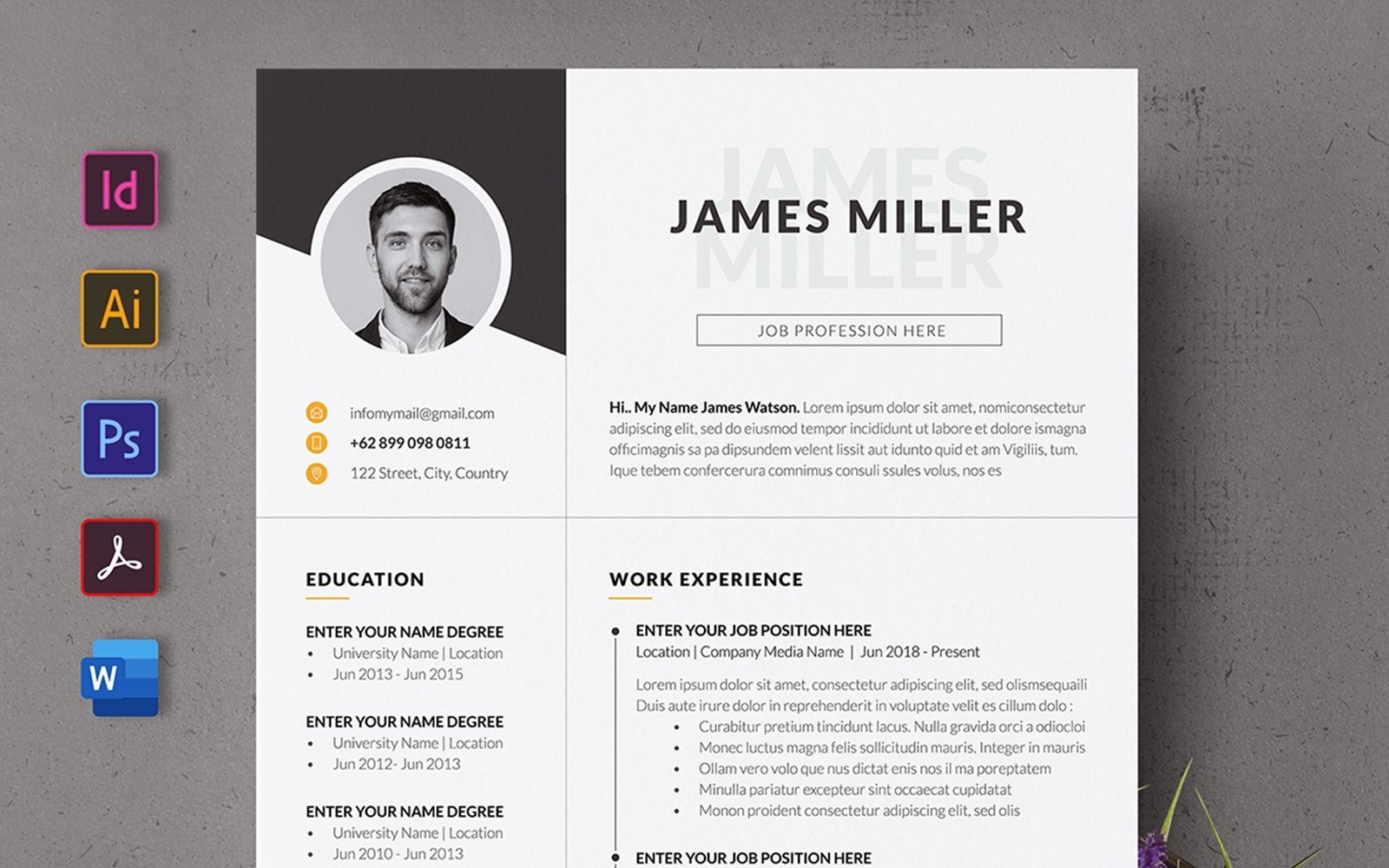 Creative  CV Resume Template