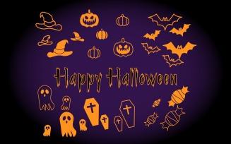 Halloween Holiday Elements - Vector Image