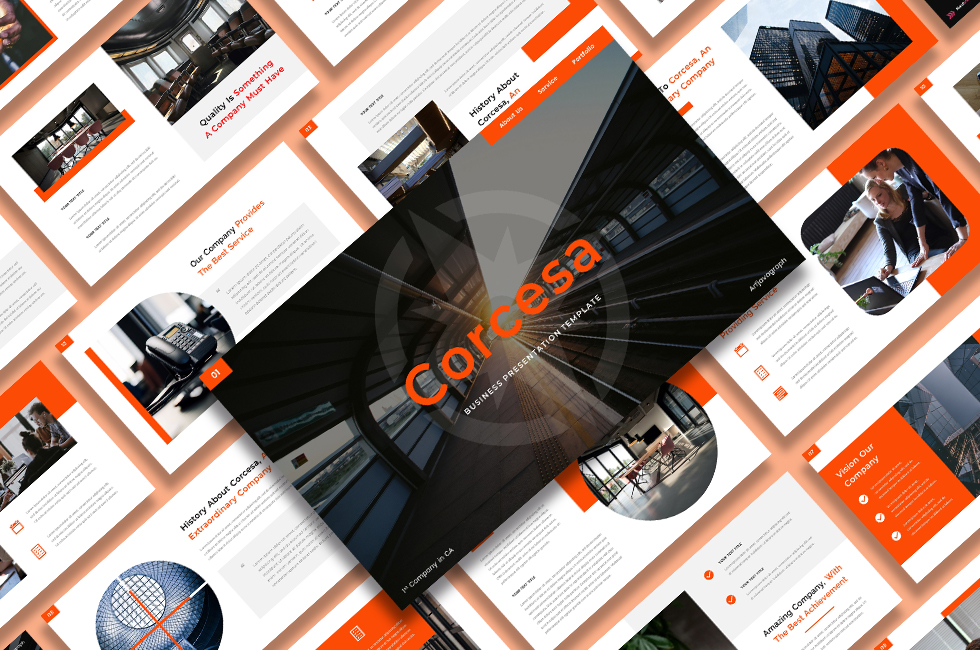 """Corcesa – Business"" - Google Slides №124505"