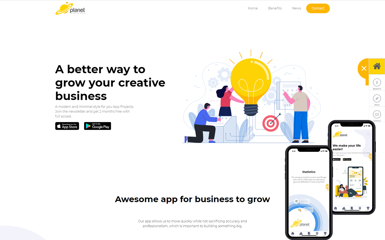 """Creative Business"" Responsive Website template №124519"