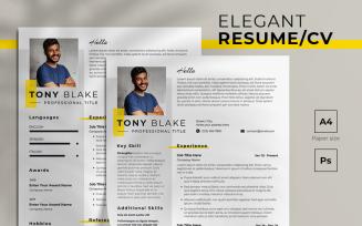 Elegant Free Resume Template