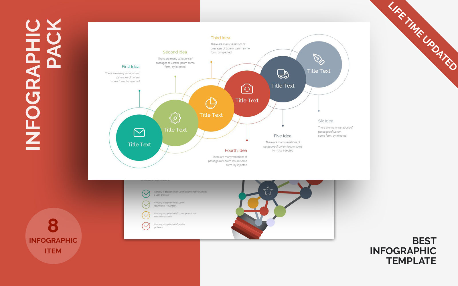 Infographic Pack PowerPoint sablon 124502