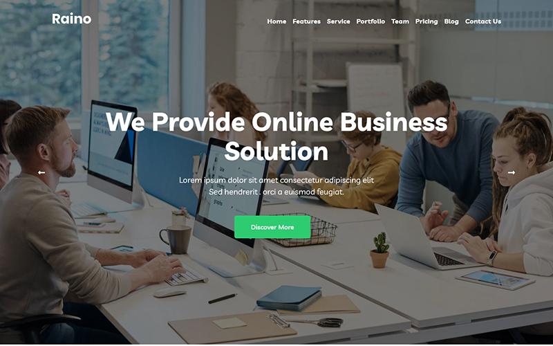 "Modello di Landing Page Responsive #124520 ""Raino - Digital Agency"""