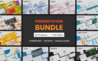1100 Powerpoint, Keynote, Google Slides: 50 Elegant PowerPoint template