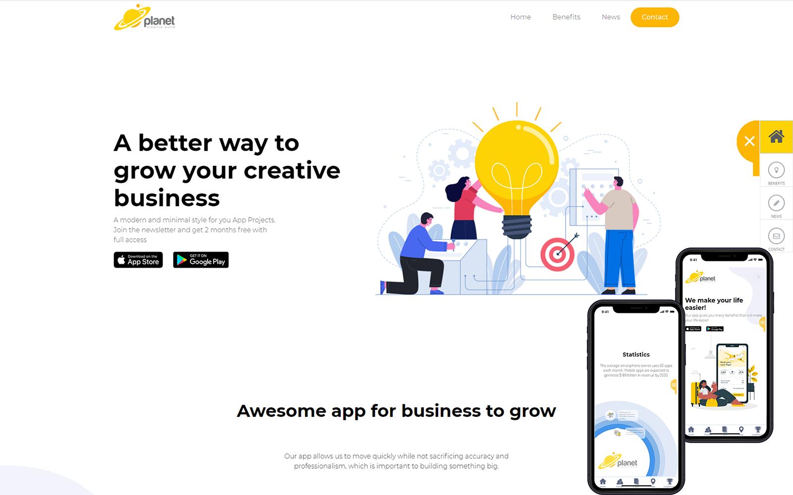 Reszponzív Creative Business Weboldal sablon 124519